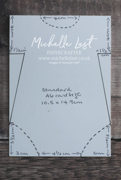 Baby Grow template for cardmaking
