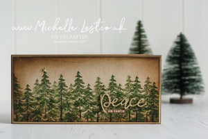 Christmas card with trees on the front