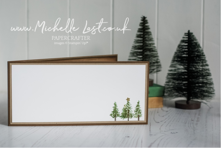 Christmas Card inside with trees