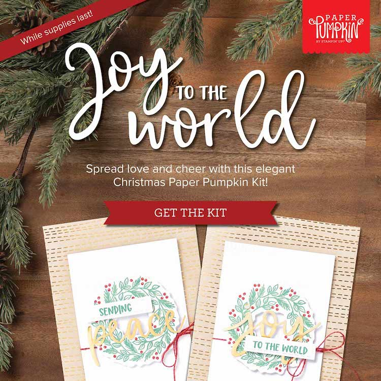 Two Christmas cards to show what you can make with the Paper Pumpkin Kit