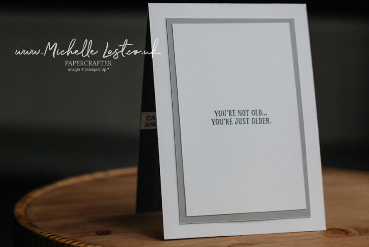 Card made to look like a mans suit