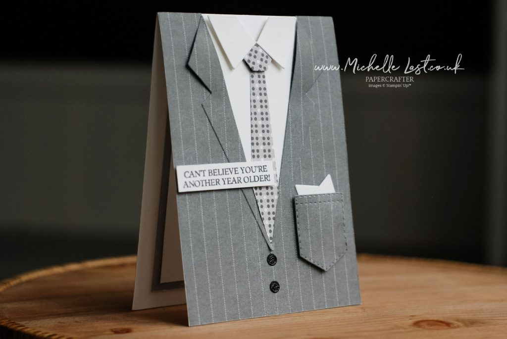 Card made to look like a suit jacket
