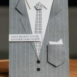 Handmade card to look like a suit