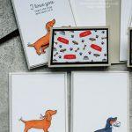 Sausage dog stamp set
