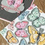 Die cutting butterflies from patterned paper