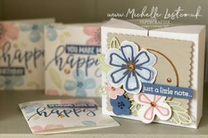 Notecard Box using Pretty Perennials from Stampin Up