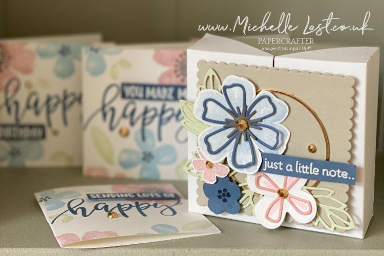 Notecard Box using Pretty Perennials from Stampin Up