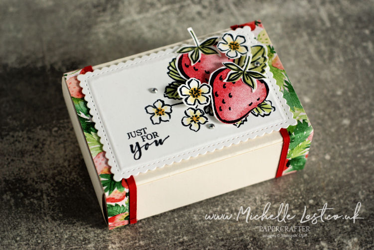 Box with strawberries on it