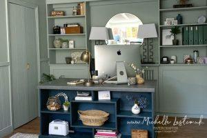 Desk area in my craft room