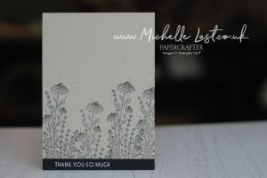 handmade card with simple stamping