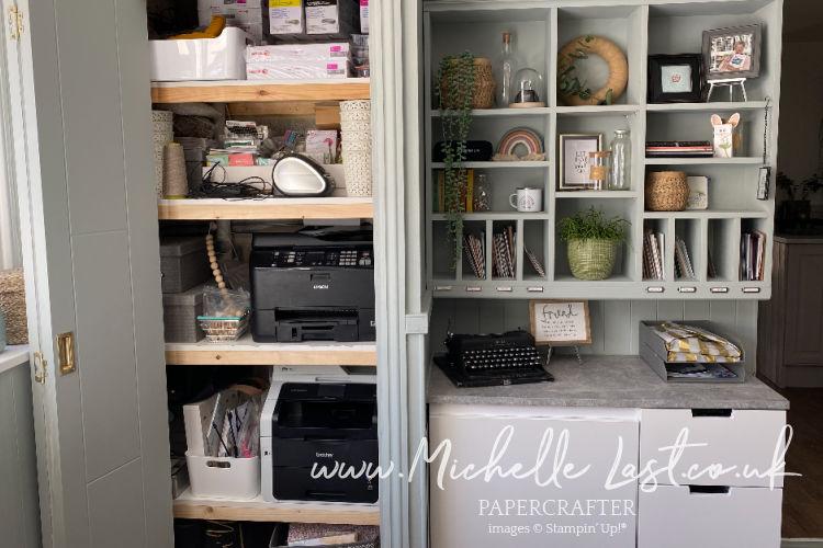 Postal area of craft room