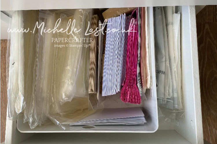 drawer contents of postal cupboard