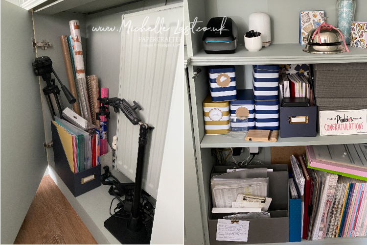 storage cupboards in craft room