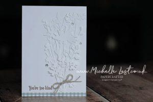 Flower die cuts on a card