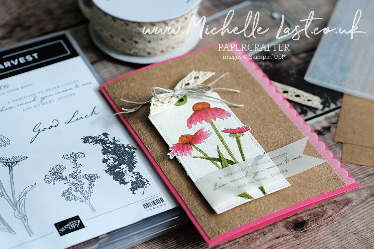 Flower card featuring a stampin up stamp set