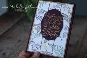 Hand stamped card using Beauty of Tomorrow